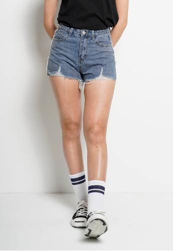 Fave blue High Rise Short Jeans 0FCC0AABCEBFC0GS_1