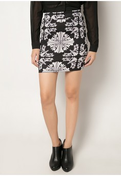 Eula Printed Pencil Skirt