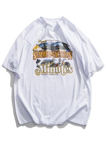 Twenty Eight Shoes Trend Printed Short T-shirt HH0027 B5E04AA8B9C19AGS_1