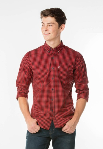 Levi's red Classic One Pocket Shirt LE843AA21JJASG_1