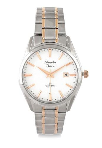 Alexandre Christie gold and silver Alexandre Christie Jam Tangan Wanita - Silver Rosegold White - Stainless Steel - 8554 LDBTRSL 09CCDAC212774BGS_1