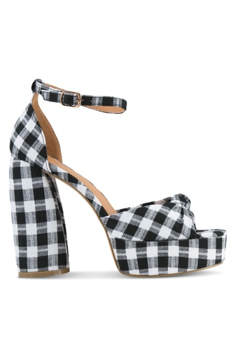 Public Desire multi Backbite Knotted Platform Curved Heels PU378SH0S9NYMY_1