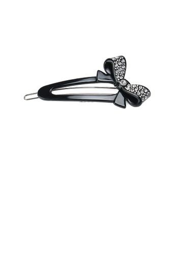 Glamorousky white Fashion Temperament Ribbon Hair Clip with Cubic Zirconia 817E9ACEA3B08AGS_1