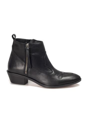 Shu Talk black INUOVO Turkish Handmade leather Ankle Pointy Cowboy Boots CB4DESH09B5FCFGS_1