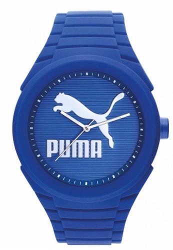 Puma blue PU103592015 Gummy Cat Blue Silver Men Watch PU549AC0RJZ8MY_1