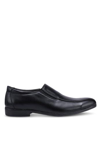 Rocklander black Slip On Formal Shoes B6999SH129D8FEGS_1