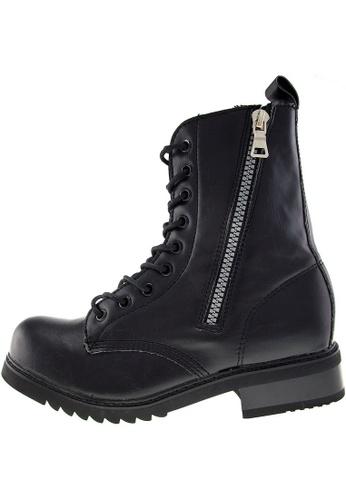 Maxstar Maxstar Women's 303 Zipper Mid Calf PU Combat Boots US Women Size MA168SH95BNCHK_1