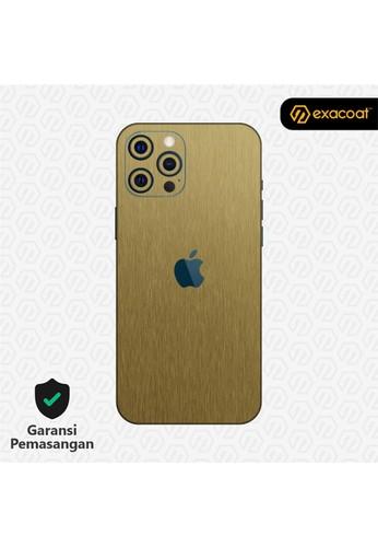 Exacoat iPhone 12 Pro / 12 Pro Max Skins Titanium Series - Titanium Gold FDBB2ES6318E55GS_1