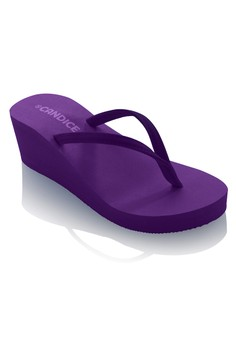Image of Candice Classic Wedge Sandals - Purple