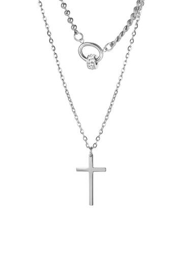 CELOVIS silver CELOVIS - Simone Cross Pendant with Interlocking Ring Necklace in Silver 1E144AC80EAA07GS_1