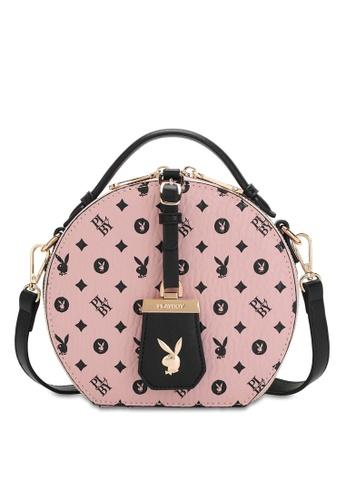 PLAYBOY BUNNY pink Casual Top Handle Sling Bag 17E6EACF764586GS_1