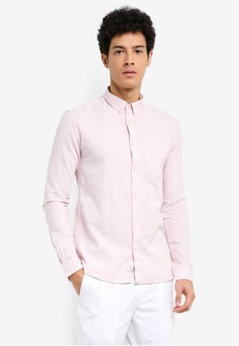River Island pink Long Sleeve Oxford Shirt 5ED5EAA634A644GS_1