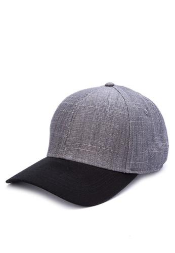 Penshoppe grey Denim Baseball Cap F043CAC2BC2326GS_1