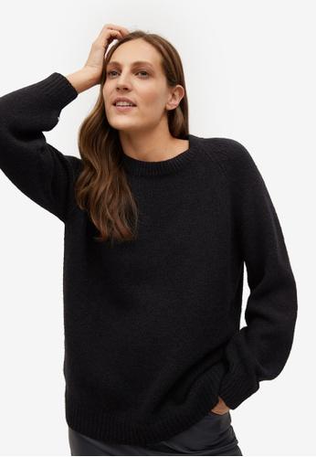 Mango black Oversize Knit Sweater F9327AA636FAA6GS_1