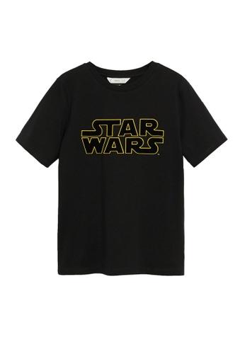 MANGO KIDS black Star Wars Cotton T-Shirt 1EFF8KAF392F69GS_1