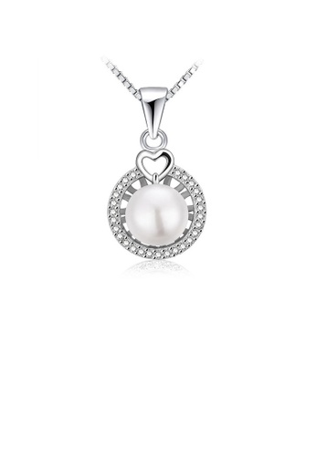 Glamorousky white 925 Sterling Silver Freshwater Pearl Pendant with Necklace 66EB4ACDEA6041GS_1