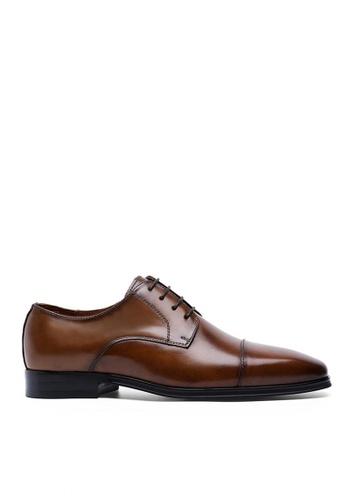 Twenty Eight Shoes 真皮三接頭商務鞋  6750 3077DSH4F6BCECGS_1