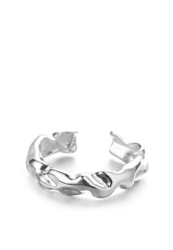 HAPPY FRIDAYS Irregular Hammer Texture Ring DWJ0849 8F9A6AC2E46007GS_1