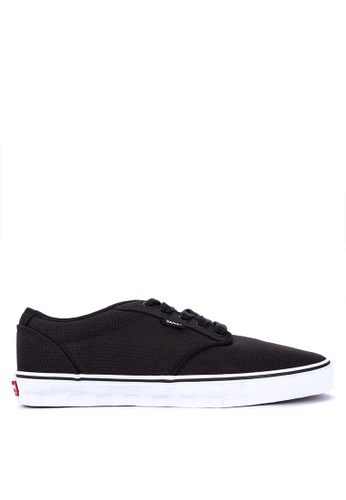 VANS black Checker Emboss Atwood Deluxe Sneakers 3279CSH37C72ADGS_1