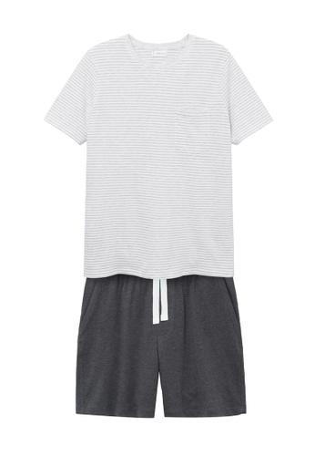 MANGO KIDS white Organic Cotton Short Pyjamas 4B70BKA2E821C4GS_1