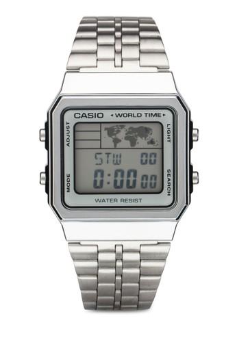A500WA-7DF 經esprit 特賣典數碼顯示不銹鋼手錶, 錶類, 飾品配件