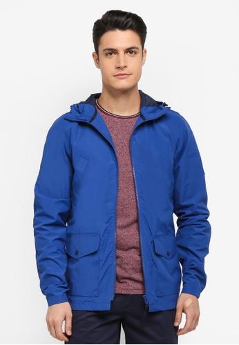 Jack Wills blue Chevening Rain Mac F53C7AAEF156A2GS_1
