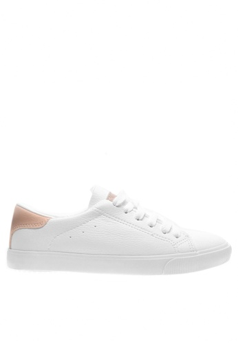 Twenty Eight Shoes white and pink Fashion Lace Up Sneakers 6936 TW446SH2UXEJHK_1