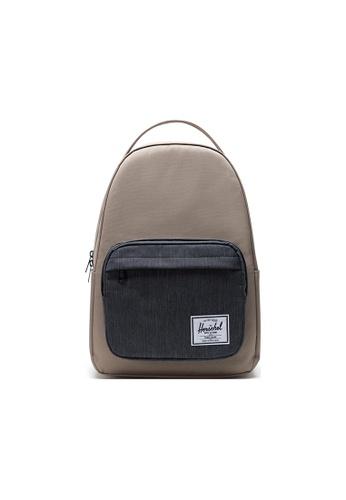Herschel beige Herschel Miller Backpacks - Timberwolf/Black Denim E1D6DACDBF2E94GS_1