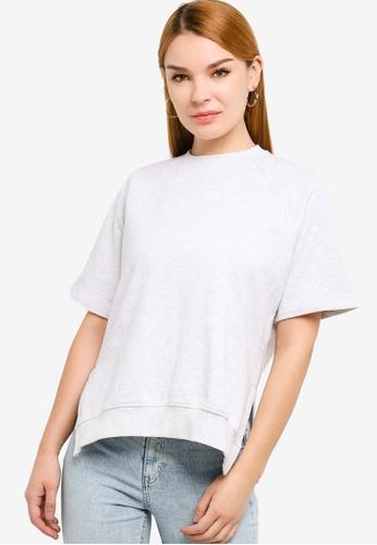 H&M grey Short-Sleeved Sweatshirt 2E3EAAABF0639AGS_1