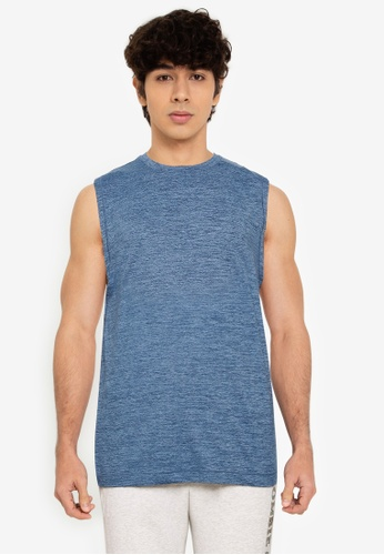 Abercrombie & Fitch blue Airknit Tank Top D3B90AAD299A37GS_1