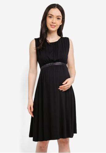 Envie De Fraise black Maternity Cleore Tank Dress 1D8CEAAC85B7A3GS_1