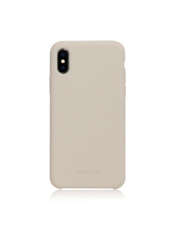 Monocozzi grey GRITTY - Liquid Silicon Stain Resistant Case for iPhone XS Max - Stone Grey 3F795AC3267F7EGS_1