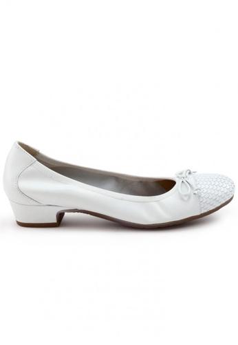 Shu Talk 白色 牛皮圓頭低跟鞋 SH544SH099TUTW_1