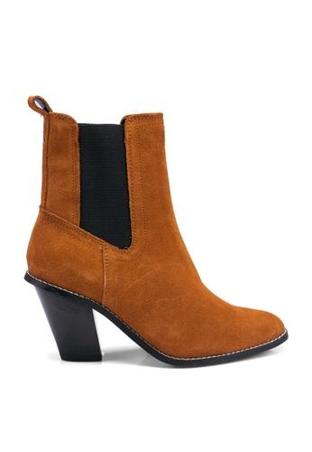 River Island brown Harry Western Heel Boots 36AC9SH28705EBGS_1