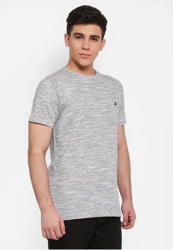 Indicode Jeans 黑色 短袖混色口袋T恤 12ABDAA053AD9CGS_1