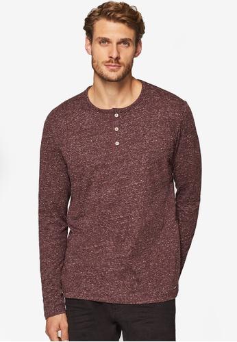 ESPRIT 紅色 Long Sleeve T-Shirt EA300AAFD55BB4GS_1