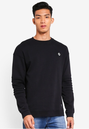 Jack & Jones 黑色 Long Sleeve Sweat Shirt 4E838AAEA90118GS_1