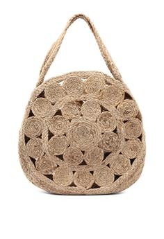 265f30732218 Mango brown Jute Shopper Bag EE9B5AC26657E5GS 1
