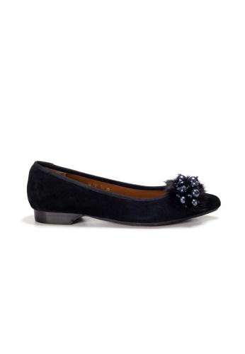 Shu Talk 黑色 LeccaLecca 毛毛配飾尖頭高跟鞋 DDDE5SHF453358GS_1