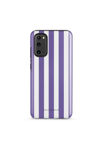 Polar Polar purple Purple Stripe Dual-Layer Tough Case Glossy For Samsung S20 56C01AC1354937GS_1