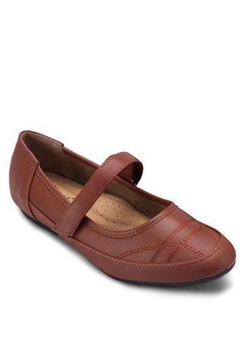 Mary esprit taiwanJane 圓頭仿皮平底鞋, 女鞋, 芭蕾平底鞋