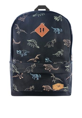 Ripples black Dinosaur Backpack 27558ACF83CEDEGS_1