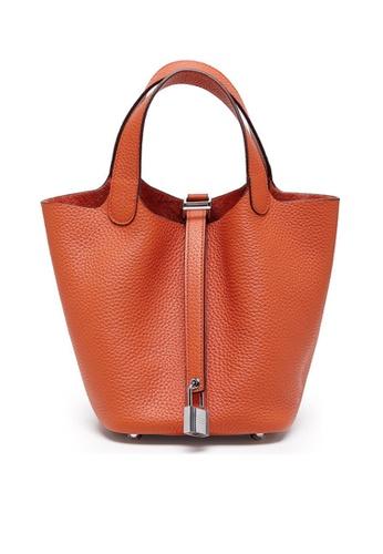 Twenty Eight Shoes orange VANSA Simple Leather Bucket Hand Bag VBW-Hb928700L 6E71BACCA8C261GS_1