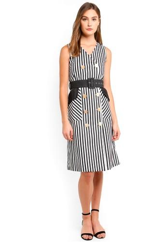 Megane black Best Frenz Donoma Button-Up Dress In Stripes 1FC3BAAB0B0CBAGS_1