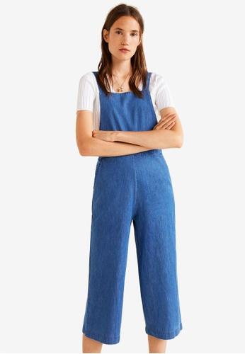 Mango blue Medium Denim Jumpsuit AD33BAA0AC8EB3GS_1
