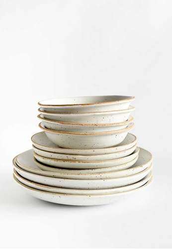 KRA Sanctuary white Talay Dinnerware Set of 6 17BFAHLBD65C52GS_1