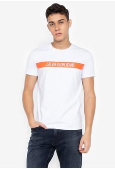 976dc277c Calvin Klein white Institutional Logo Band Slim T-Shirt DA78DAA201010CGS 1