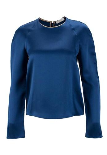 Chloé blue Pre-Loved Blue Silk Long-Sleeved Chloe Top with Back Zipper Closure 41E78AA068C1C9GS_1