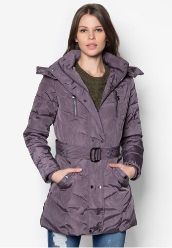 長版羽絨連帽外套, 服飾, 夾克 &azalora 內衣mp; 大衣