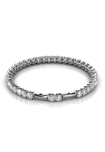 Her Jewellery silver Swarovski® Crystals - Venus Bracelet (White Gold)(18K White Gold Plated) Her Jewellery HE581AC0R9W5MY_1